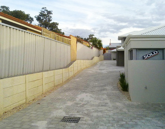 Asbestos Removal panel and post retaining